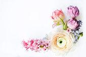 istock Festive invitation card with beautiful flowers 930975406