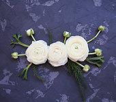 istock Festive invitation card with beautiful flowers 930985700
