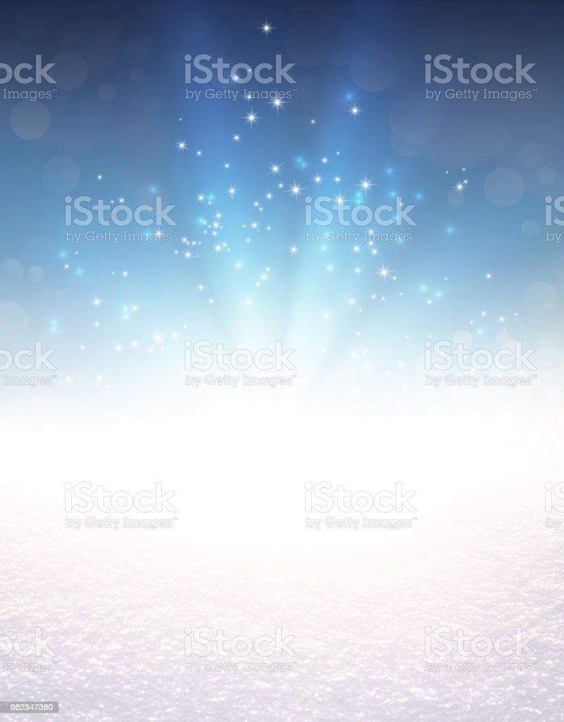 Festive light explosion on snow - Royalty-free Abstract Stock Photo