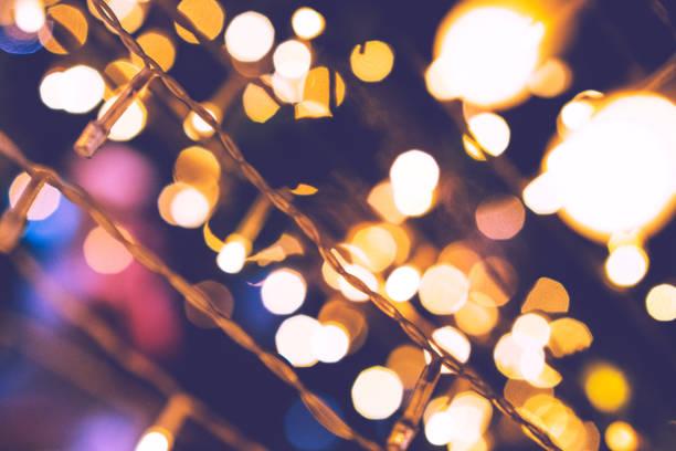 Variedade de iluminação festiva - foto de acervo
