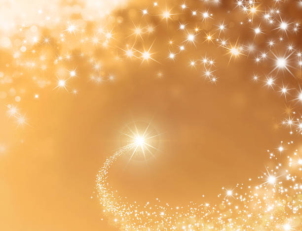 festive lucky star background - dreamlike stock photos and pictures