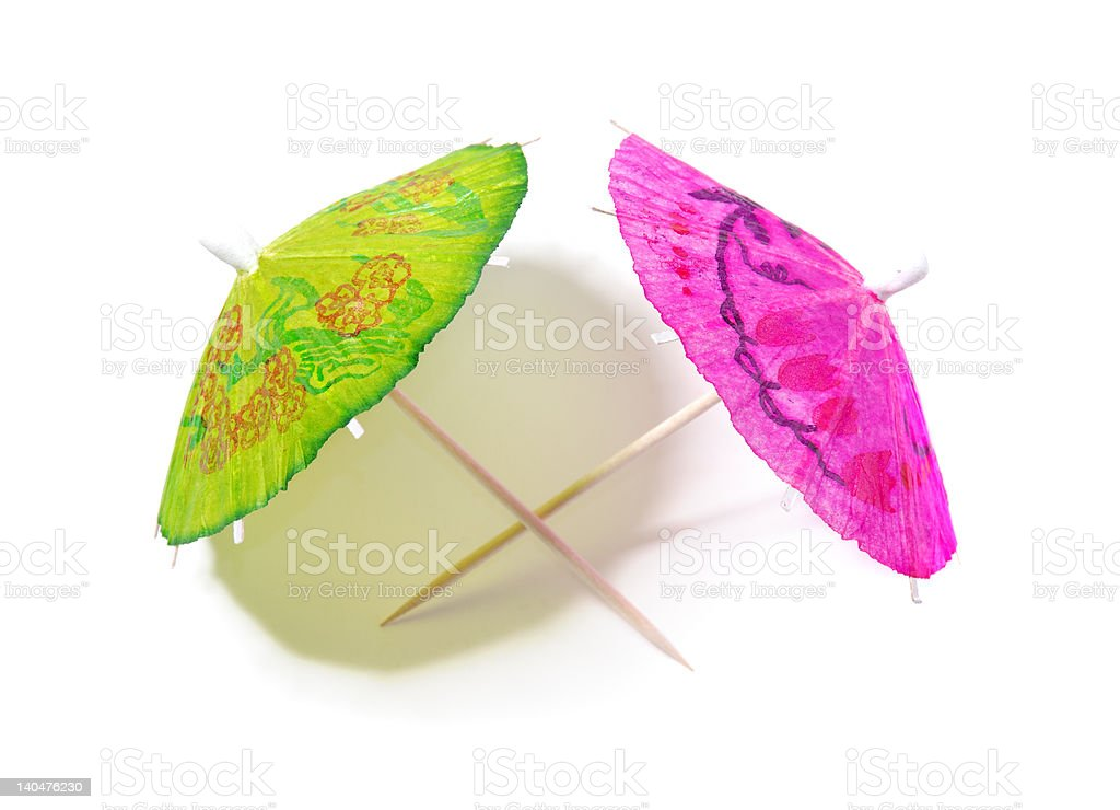 Festive Paper Umbrellas royalty-free stock photo