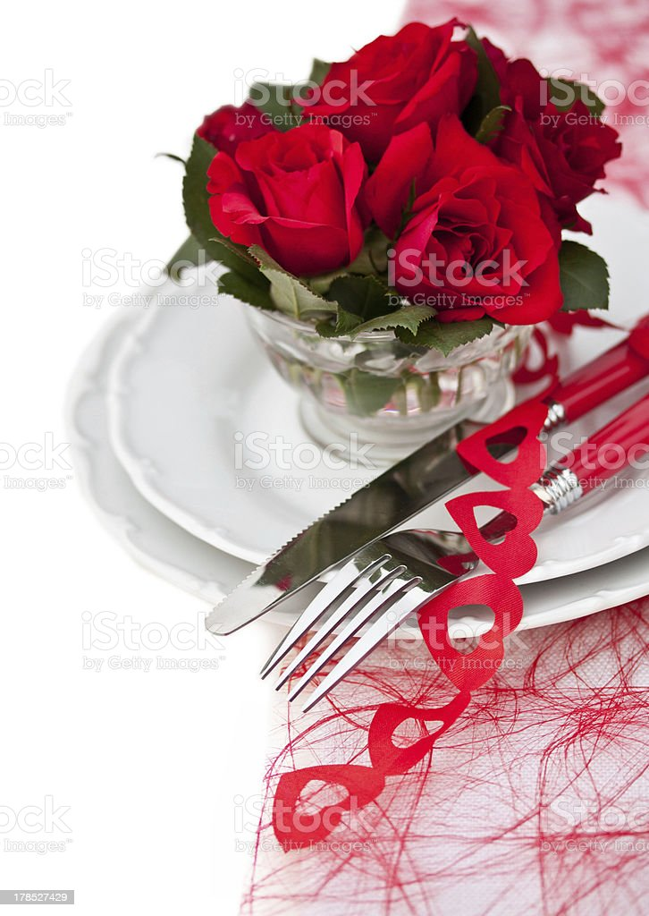 Festive Place Setting royalty-free stock photo
