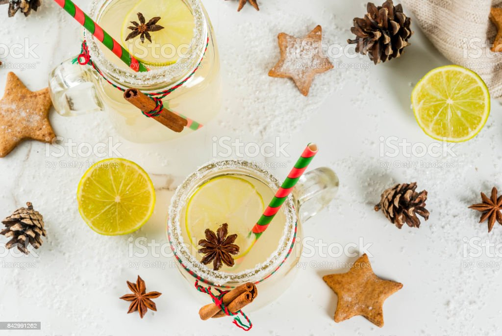 Festive Snowball Cocktail stock photo