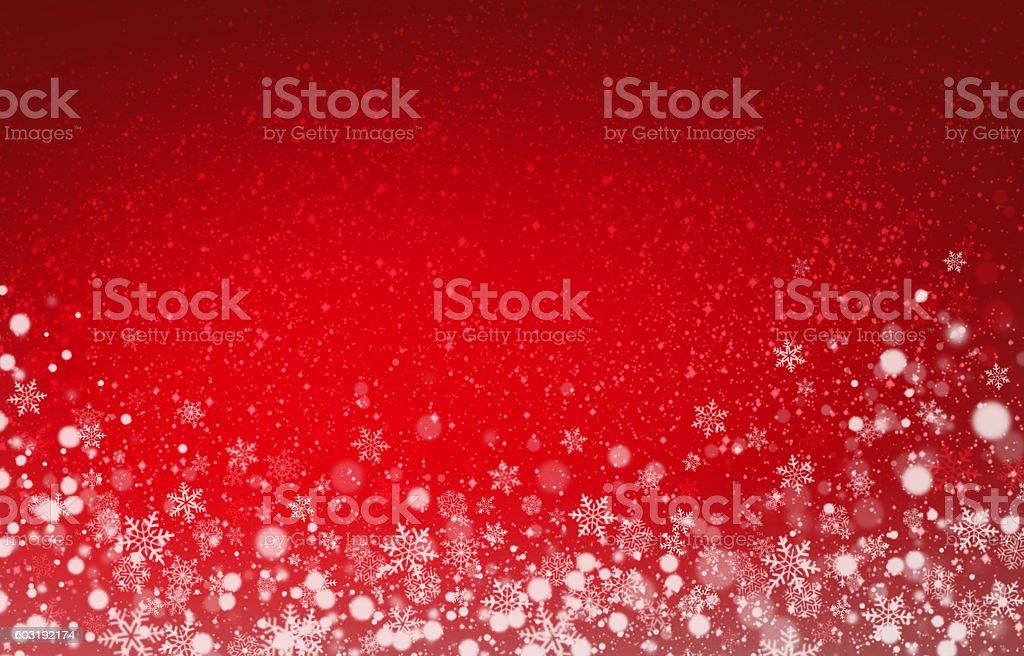 Festive snowflakes background stock photo