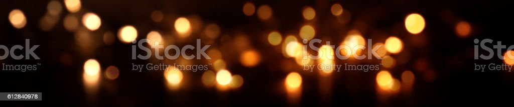Festive sparkling Christmas lights with bokeh at night