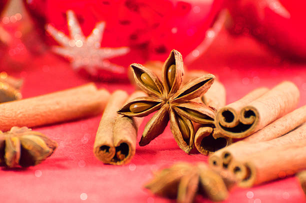 Festive spices and decorations