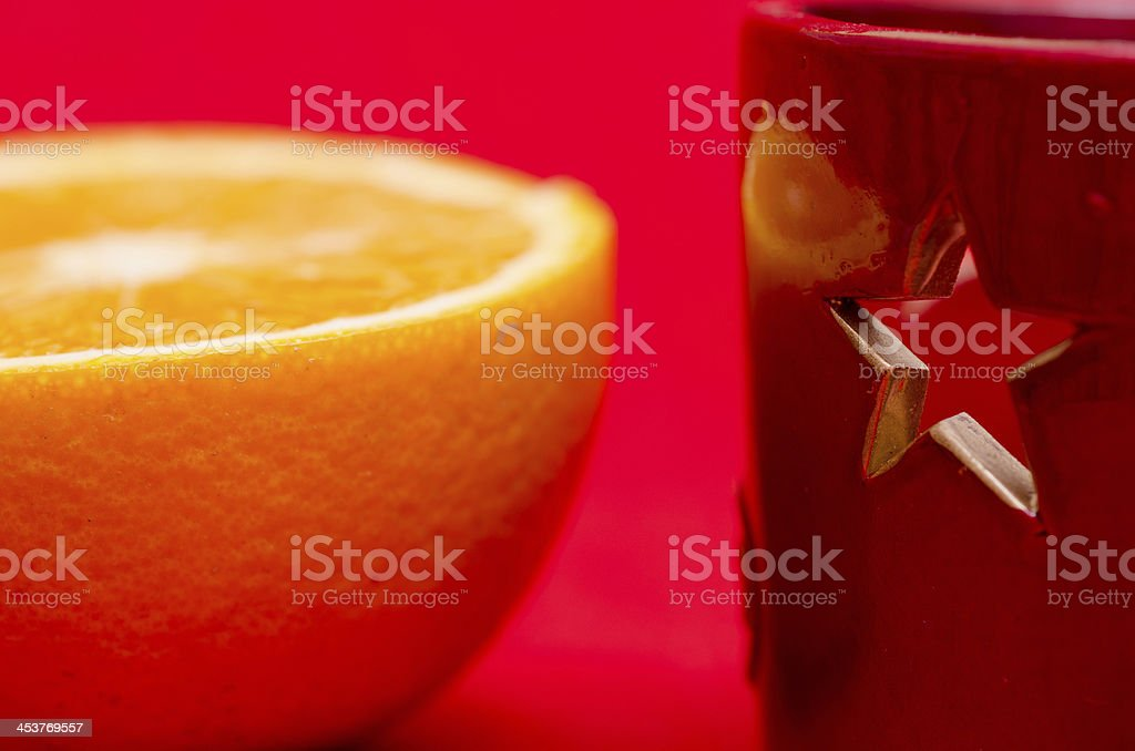 Festive star and a half orange stock photo
