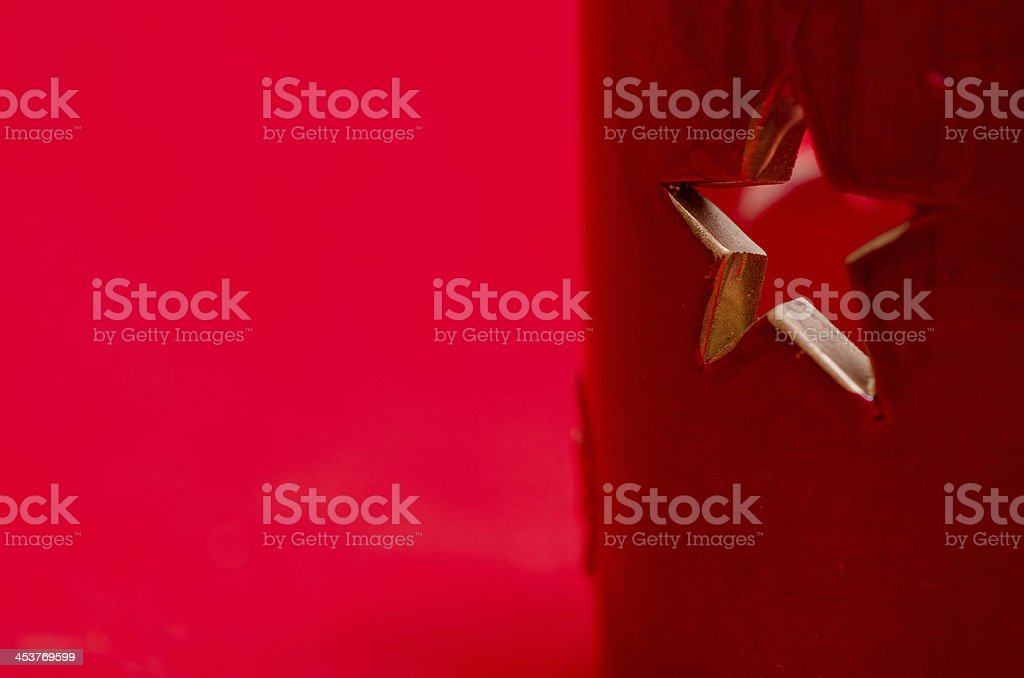 Festive star with free space stock photo