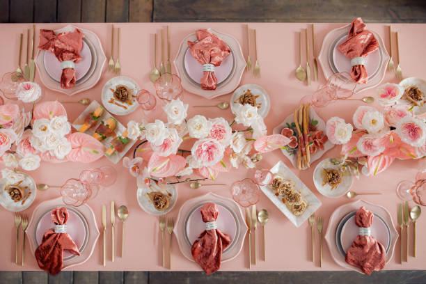 Festive table decor in pastel pink colors with golden cutlery picture id950175686?b=1&k=6&m=950175686&s=612x612&w=0&h=xt3hc3 ahewgcmfc1t6xzt1xxjb9gb4tk rzoqdyy q=