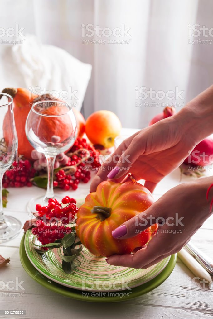 festive table setting royalty-free stock photo