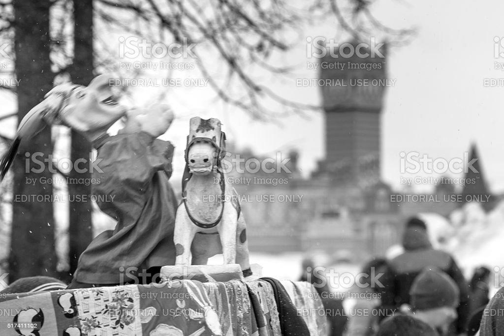 Festivities on Russian Maslenitsa stock photo