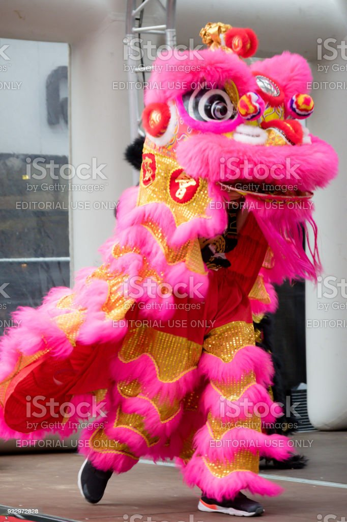 Festivities to celebrate Chinese New Year In London for year of the dog 2018 royalty-free stock photo