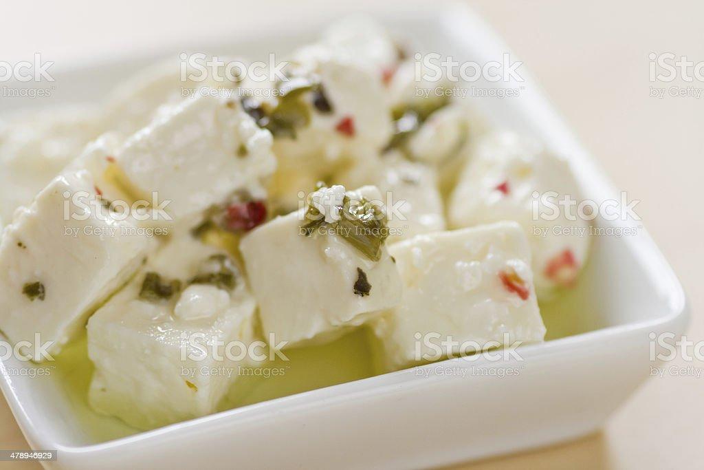 Feta cheese close-up stock photo