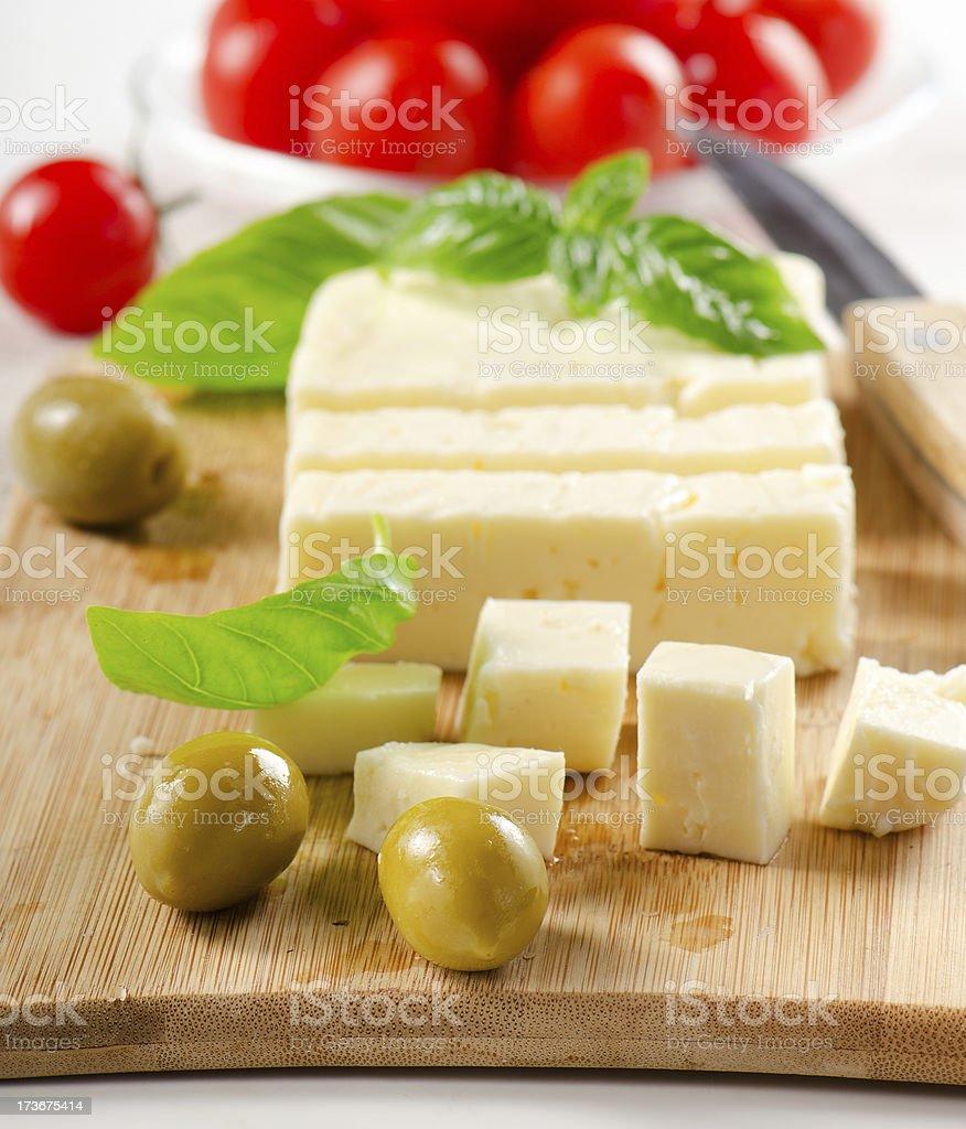 Feta cheese. royalty-free stock photo