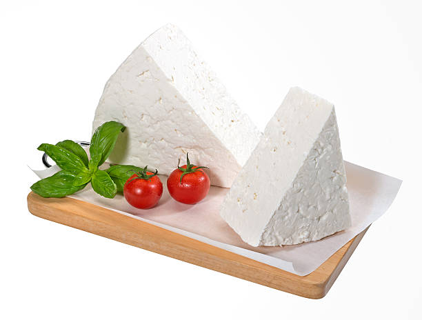 Feta Cheese(+clipping path) stock photo