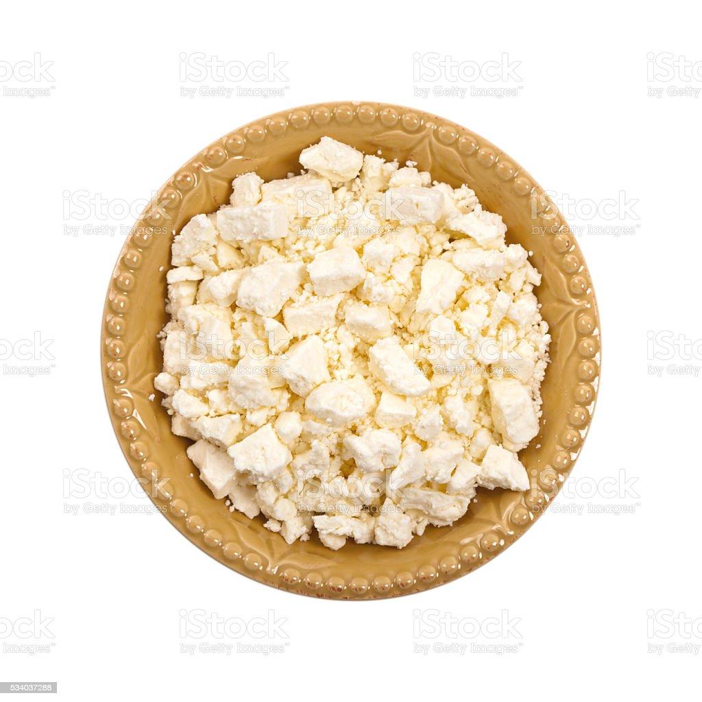 Feta Crumbled Cheese stock photo