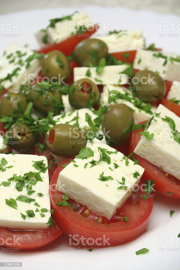 Feta Salad royalty-free stock photo