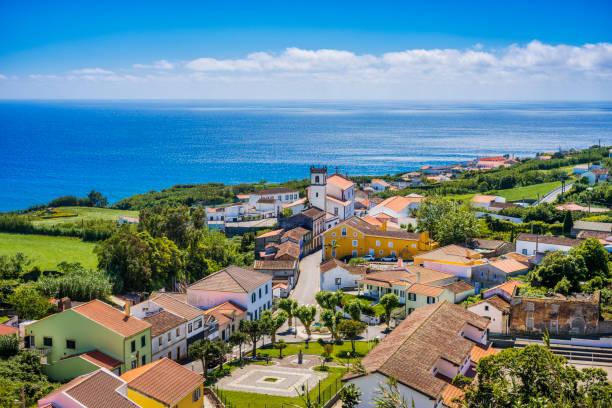Feteiras on Sao Miguel, Azores stock photo
