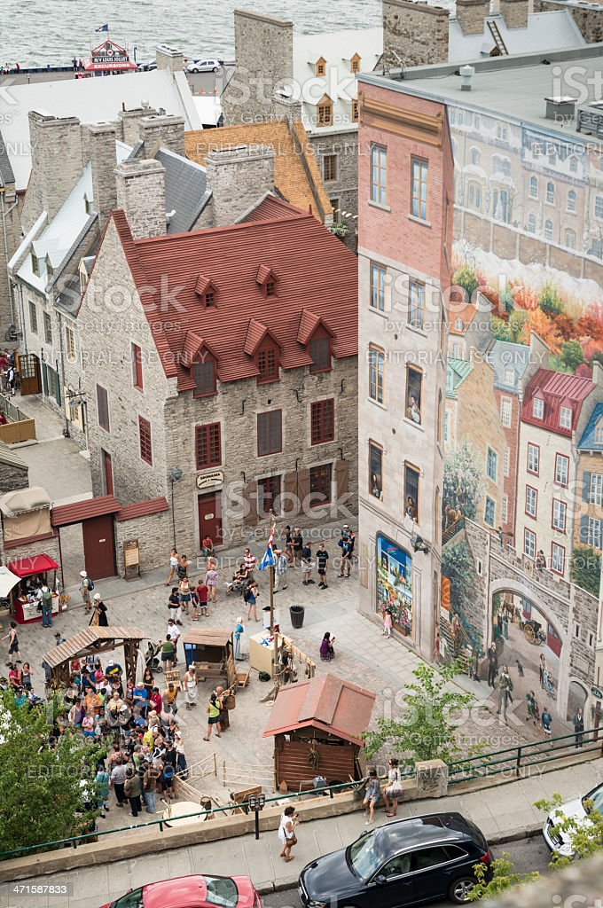 Fetes de la Nouvelle-France, Vieux-Quebec. royalty-free stock photo