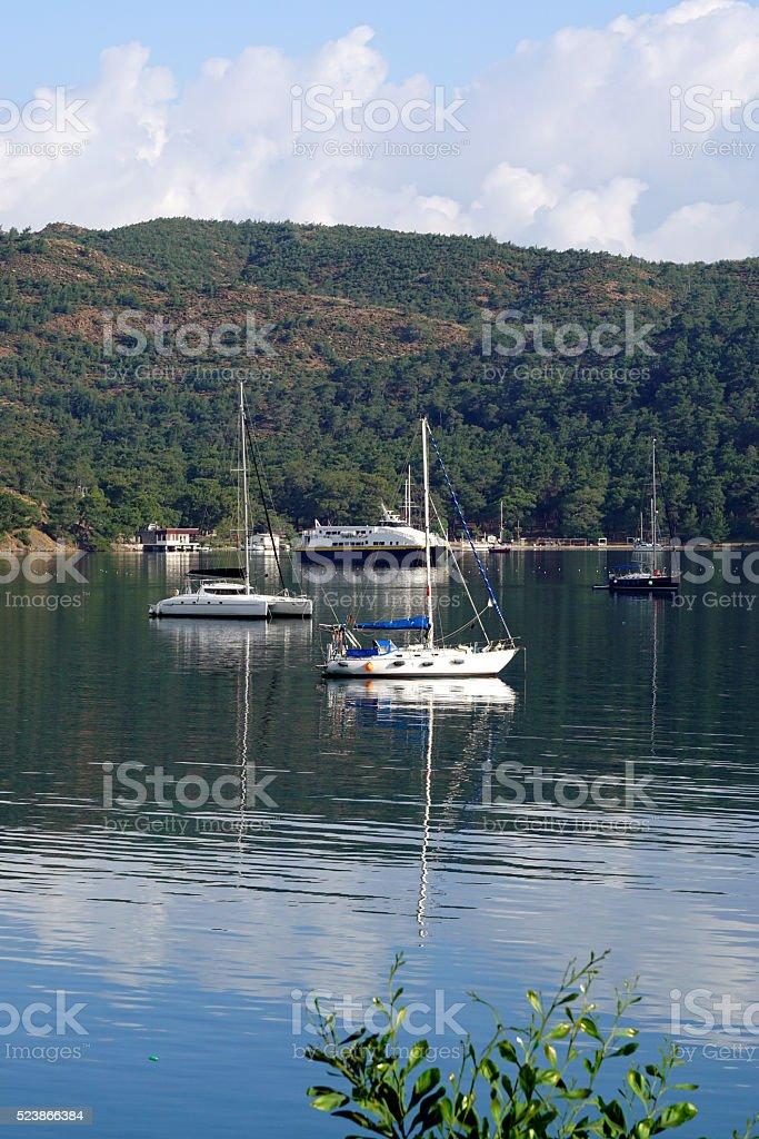Fethiye marine stock photo