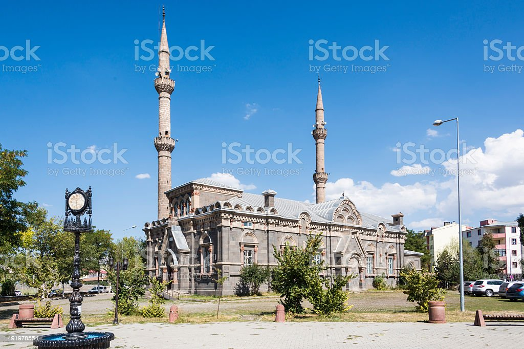 Fethiye Mosque in Kars stock photo