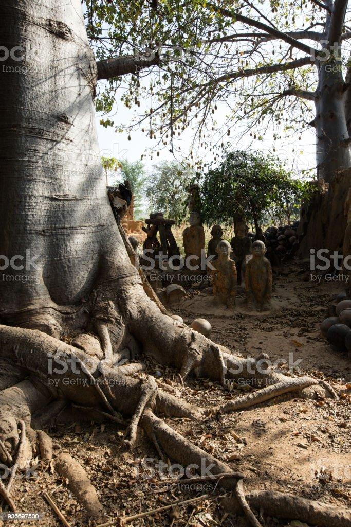 Fetish in Lobi village stock photo