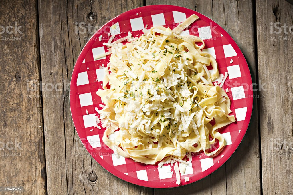 Fettuccine Garlic Olive Oil And Cheese royalty-free stock photo