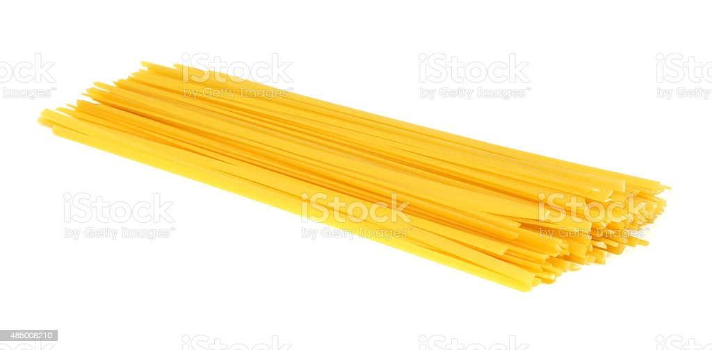 Fettuccine pasta isolated on white stock photo