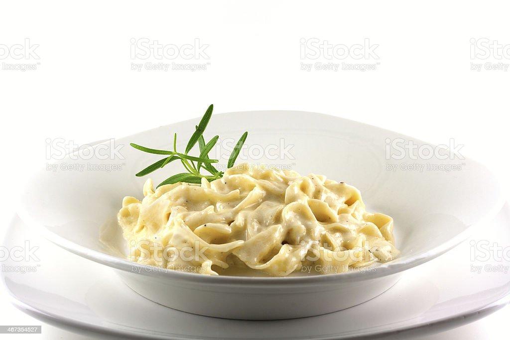 Fettucine Alfredo stock photo
