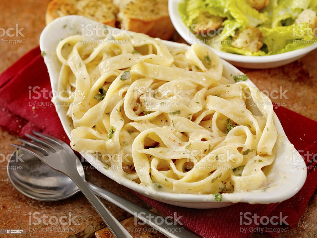Fettucini Alfredo stock photo
