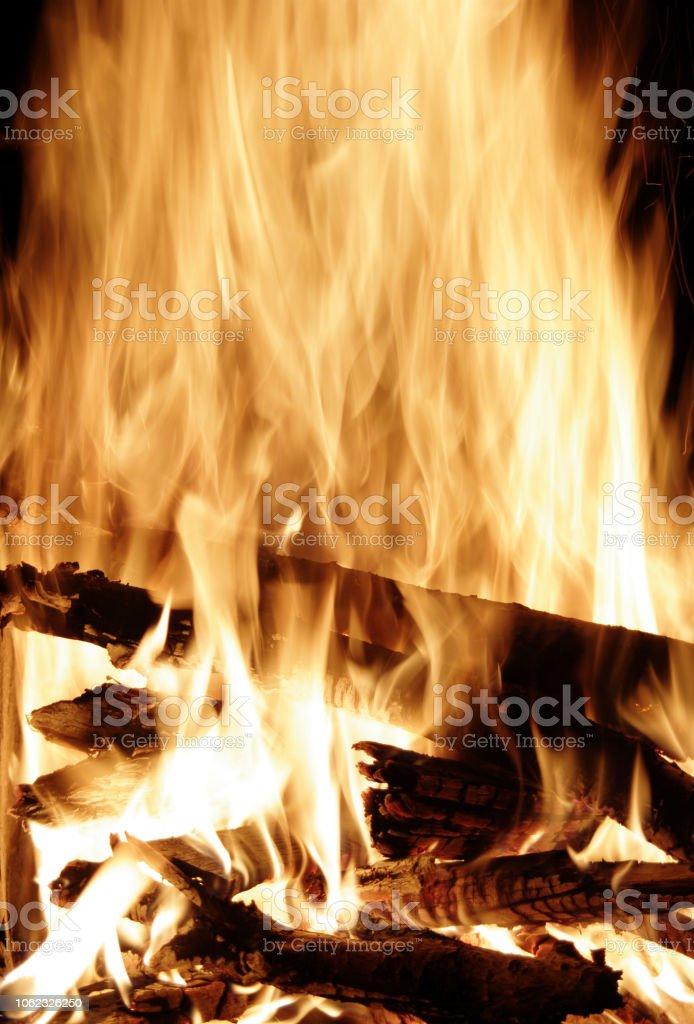 Feuer im Kamin stock photo