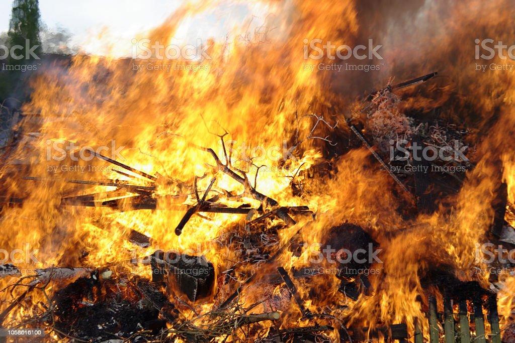 Feuer und Flammen stock photo