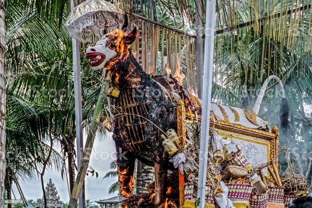 Feuerbestattung Auf bali – Foto