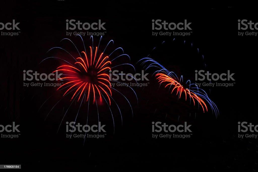 Feuerwerk in Herzform royalty-free stock photo