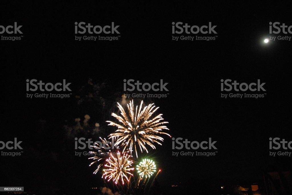 Feuerwerk in Spanien royalty free stockfoto