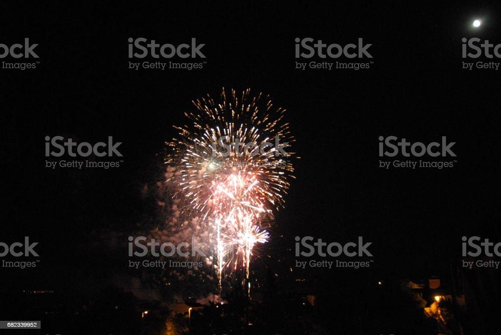 Feuerwerk in Spanien zbiór zdjęć royalty-free