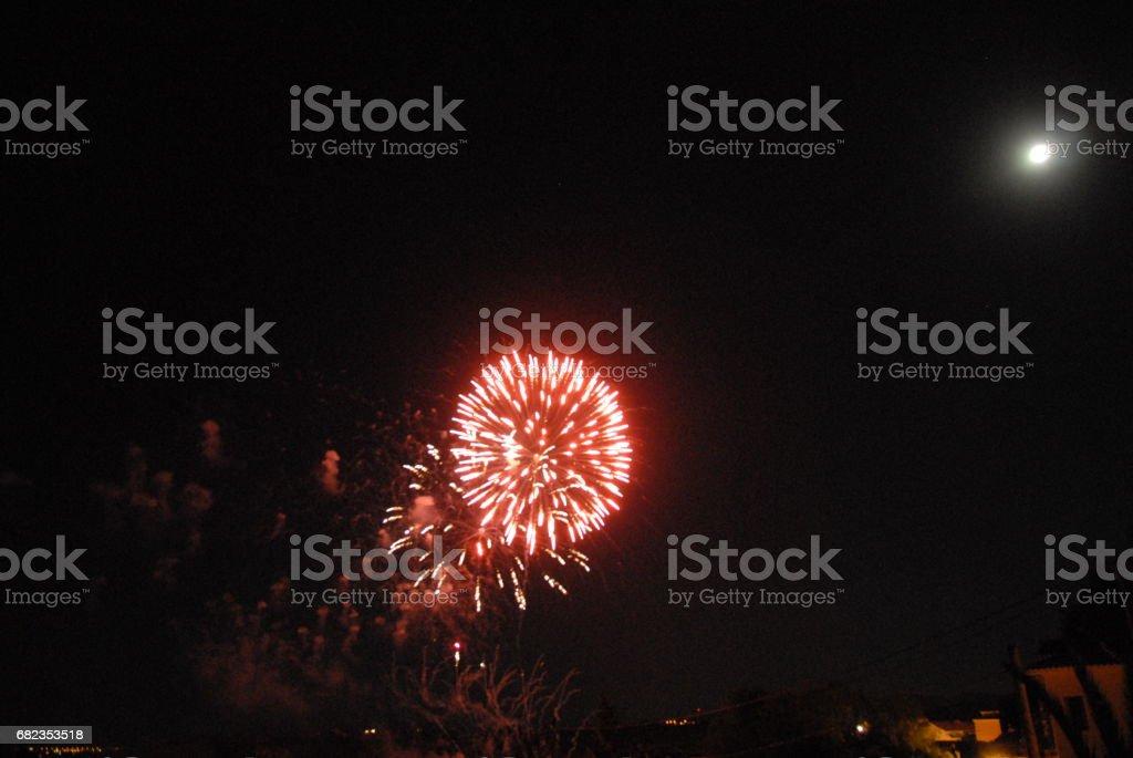 Feuerwerk in Spanien photo libre de droits