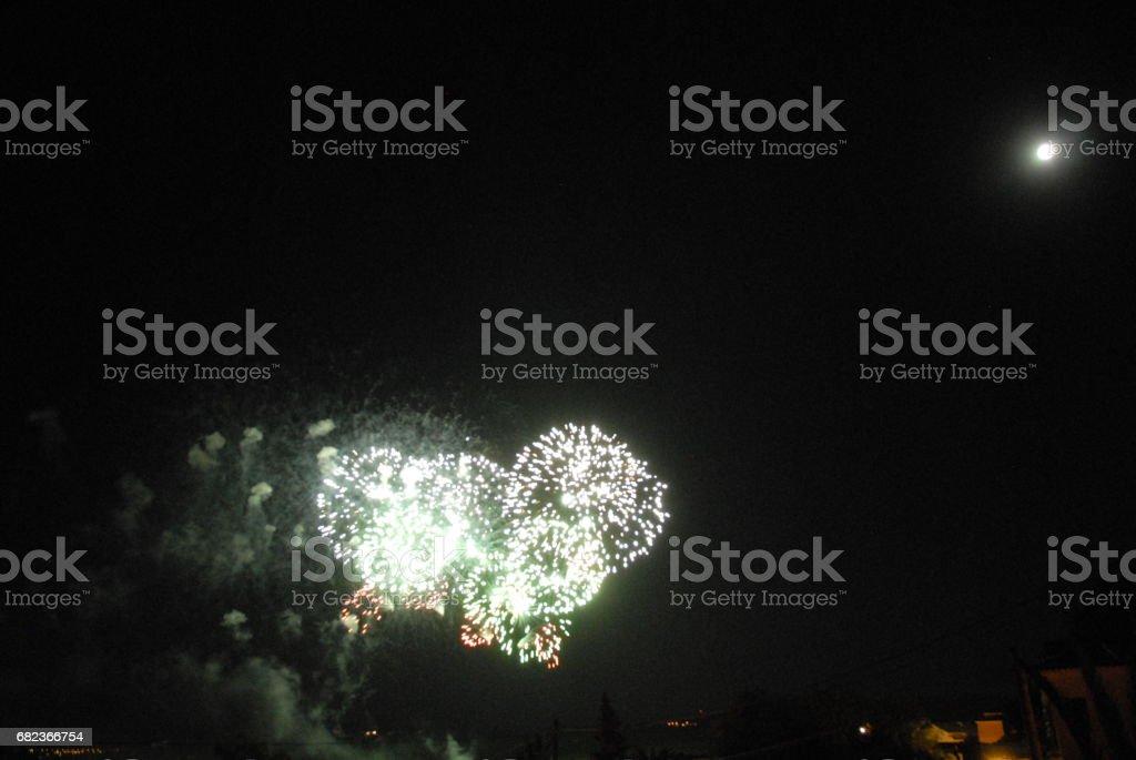 Feuerwerk in Spanien royaltyfri bildbanksbilder