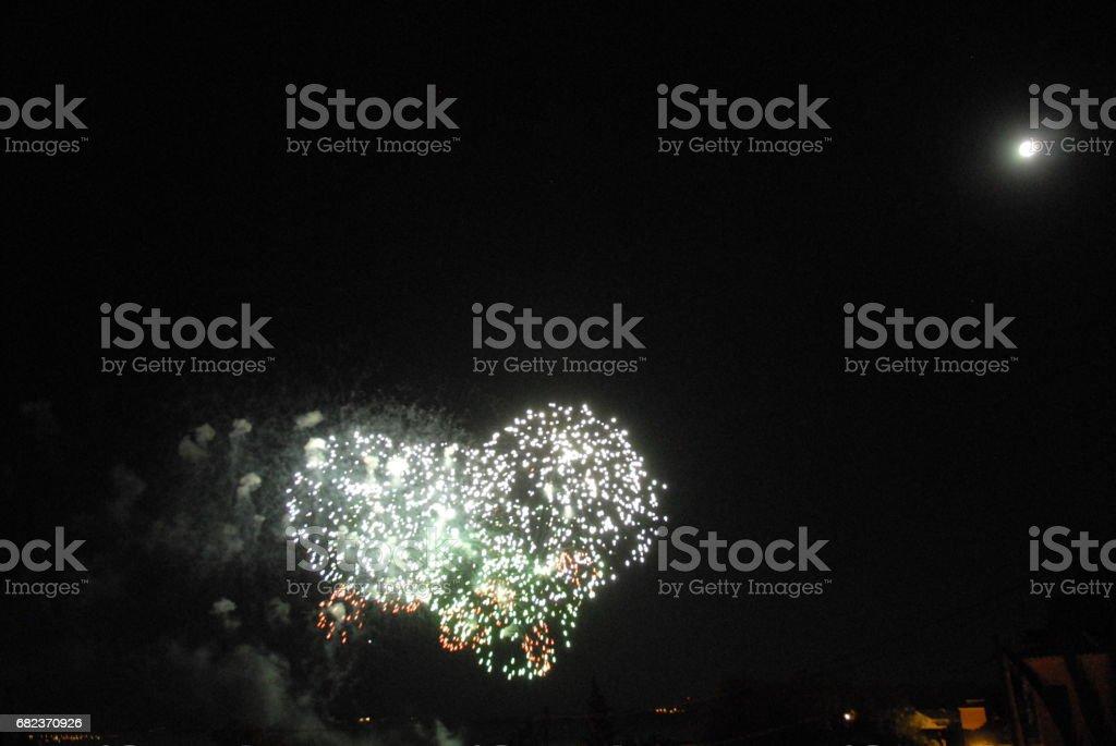 Feuerwerk in Spanien foto stock royalty-free