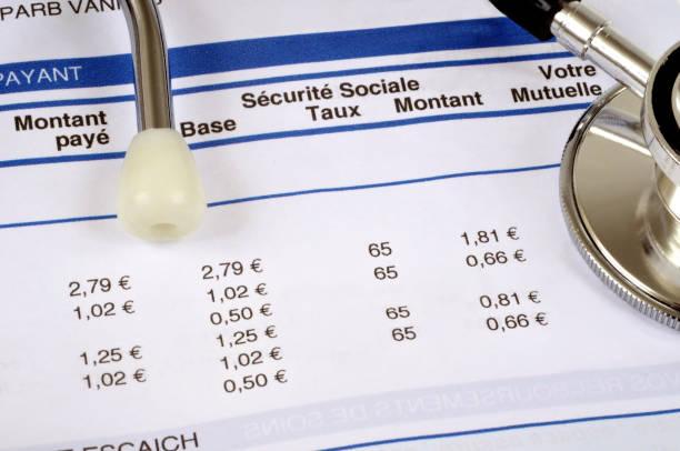 feuille de remboursement des dépenses de santé - previdencia social - fotografias e filmes do acervo