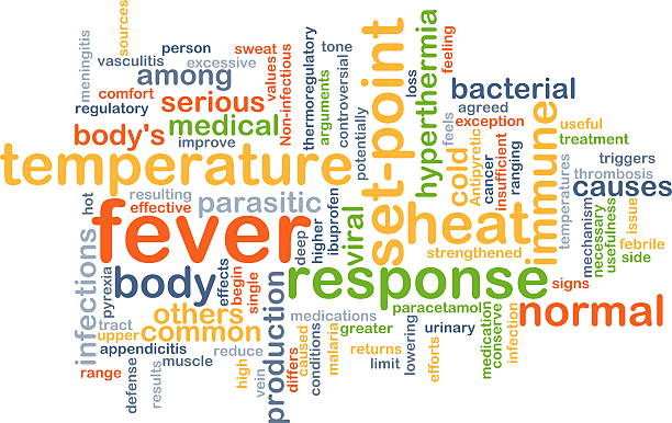Fever background concept Background concept wordcloud illustration of fever antipyretic stock pictures, royalty-free photos & images