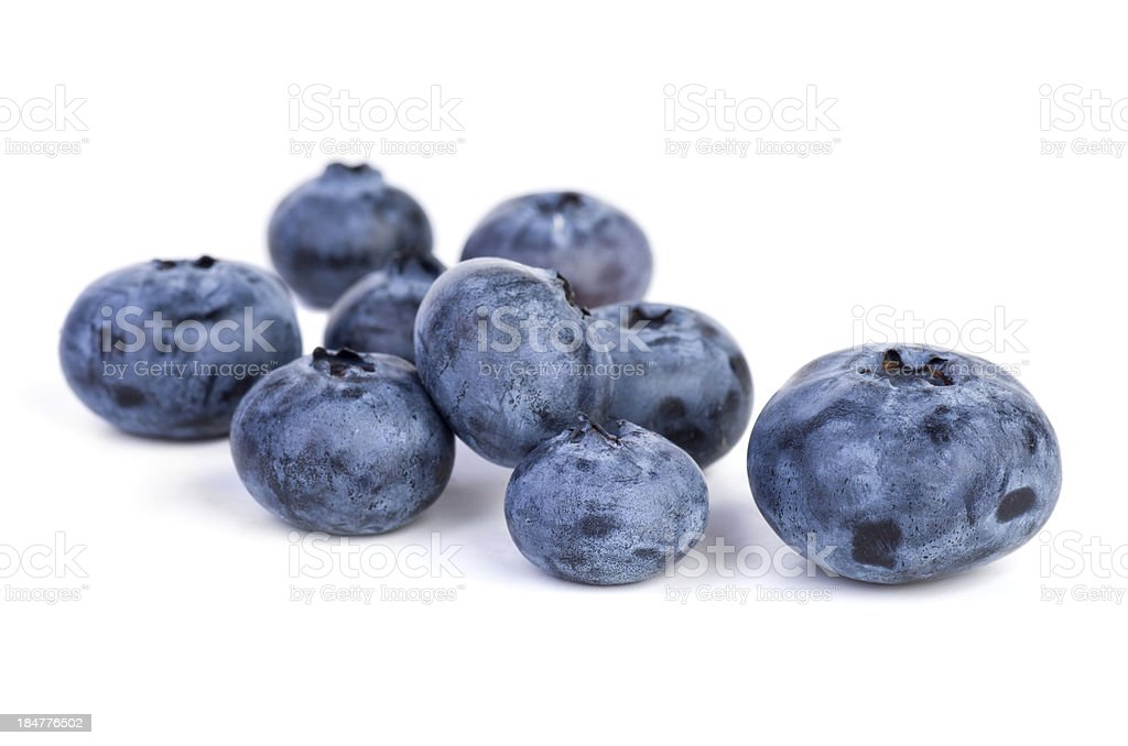 Few bilberries royalty-free stock photo