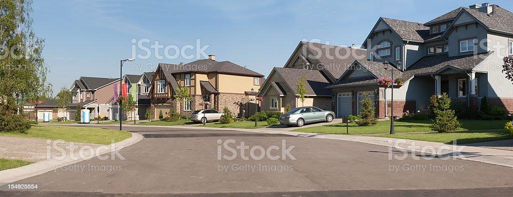 Few brand new suburban houses. stock photo