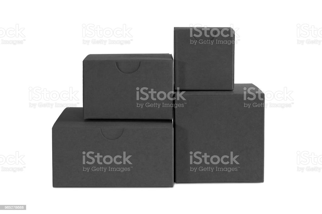 Few carton black boxes zbiór zdjęć royalty-free