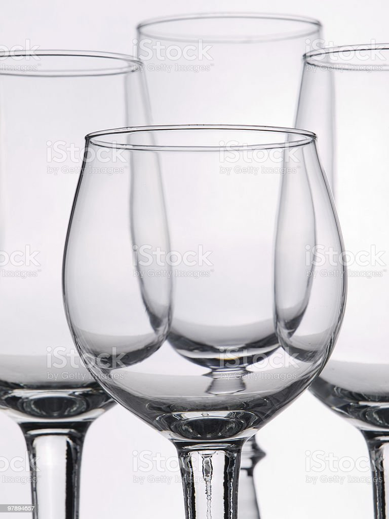 few empty glasses are for swizzles royalty-free stock photo