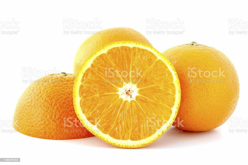 Few juicy oranges. royalty-free stock photo