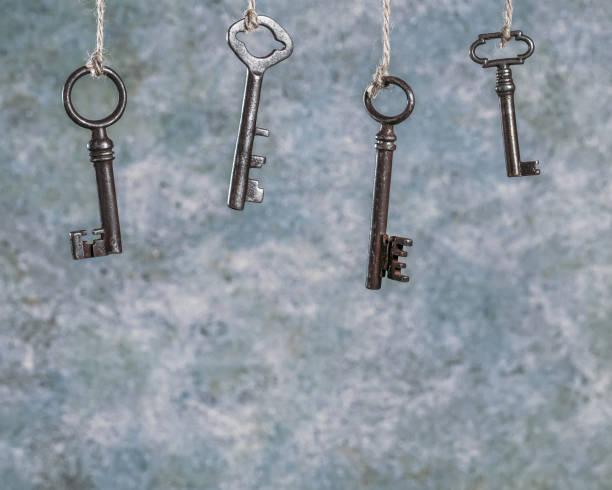 Cтоковое фото Few old keys hanging