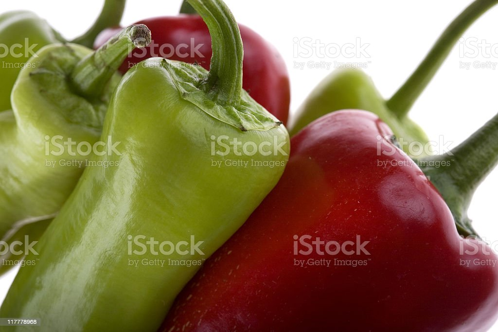 Few Peppers stock photo