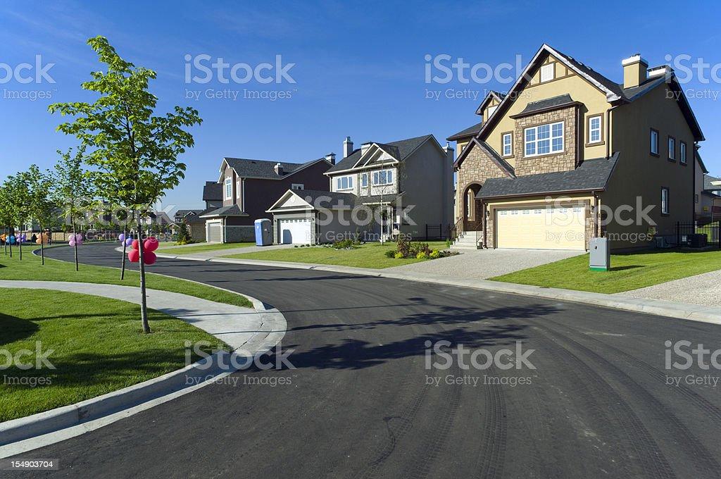 Few suburban houses royalty-free stock photo